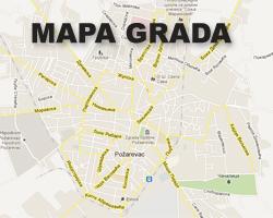 pozarevac mapa PozarevacInfo   Mapa Požarevca   Pretraga ulica pozarevac mapa