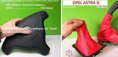 POKLOPAC AIR BAG-a + kožica menjača i r.
